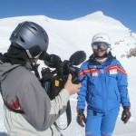 Interview mit Helm unterm Veleta