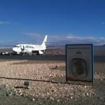 Der Wüstenflughafen von Calama